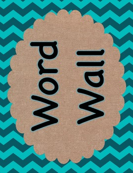 Word Wall Colorful Chevron and Burlap
