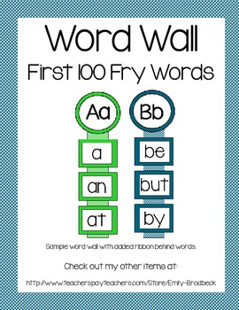Word Wall- First 100 Fry Words