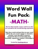 Word Wall Fun Pack ~ Math