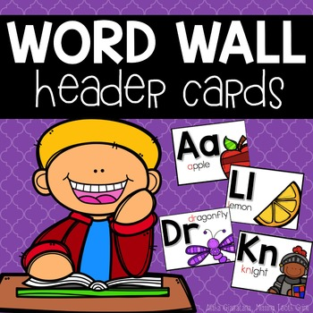Word Wall Header Cards
