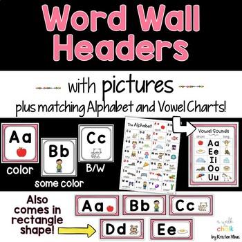 Word Wall Headers (Hot Pink)
