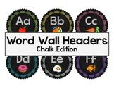 Word Wall Headers: Chalk Edition