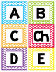 Word Wall Headers - Colorful Chevron