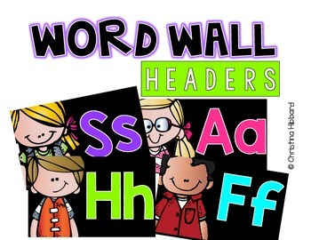 Word Wall Headers (Featuring Kidlettes)