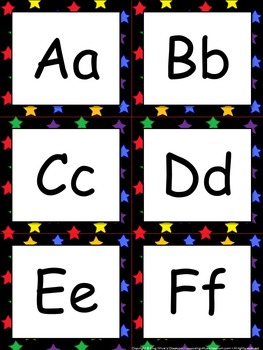 Word Wall Headers (Letters) - Superstars Theme #1 - Stars