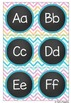 Word Wall Headers & Word Cards - Chevron Theme