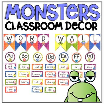 Word Wall Display {Monsters Classroom Decor Theme}