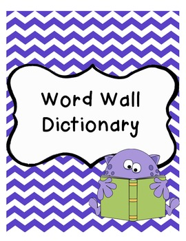 Word Wall Journal - Dictionary Skills