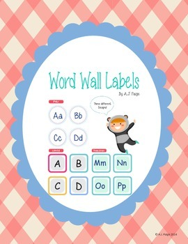 Word Wall Labels- 3 Designs, 2 Versions(Capital/Both the l