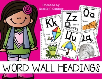 Word Wall Letter Headings