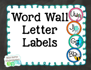 Word Wall Letter Labels
