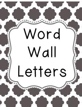 Word Wall Letters **Cloud Quatrefoil**