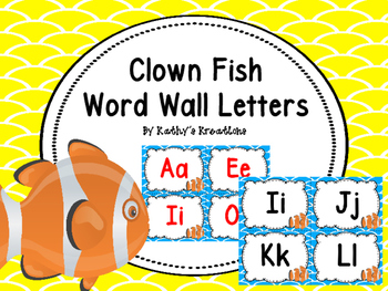 Word Wall Letters Clown Fish