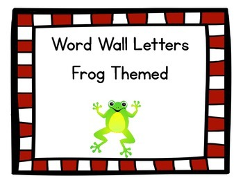 Word Wall Letters Frog Themed