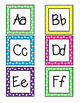 Word Wall Letters- Neon Polka Dots