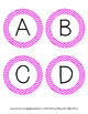 Word Wall Letters - Pink Chevron