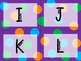Word Wall Letters - Purple, Orange, Green, and Turqoise