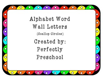 Word Wall Letters {Rainbow Scallop Circles} {Dollar Deal}