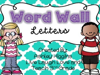 Word Wall Letters (Turquoise)