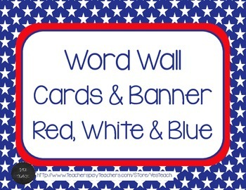 Word Wall Letters and Banner