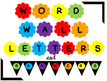 Word Wall Letters and Matching Banners