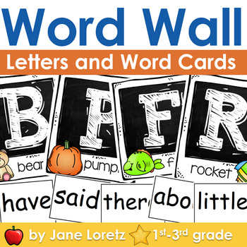 Word Wall (Letters and Word Cards)