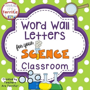 Word Wall Letters for a Science Classroom