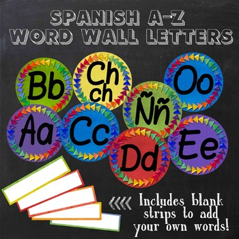 Word Wall Letters in Spanish