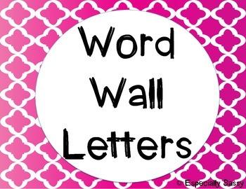 Word Wall Letters - quatrefoil