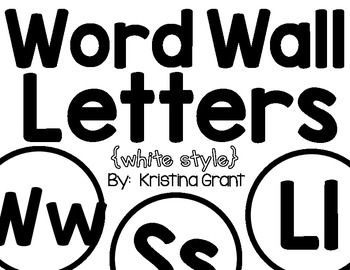 FREE Word Wall Letters {white style}