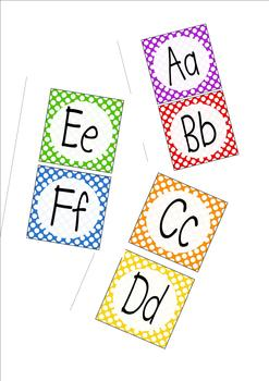 Word Wall Letters with Polka Dots