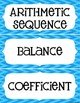 Word Wall - Middle School Math - Expressions and Equations