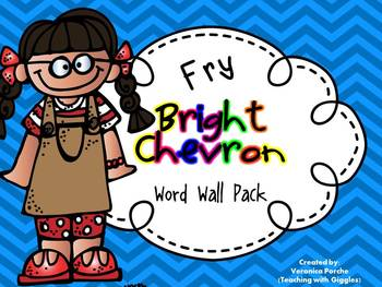 Word Wall Pack {Fry Words}- Bright Chevron