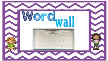 Pared De Palabras/Word Wall