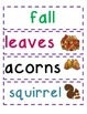 Word Wall Pick Three: Fall Themed Word Work/Sentence Writing