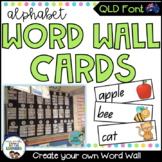 QLD Beginners Font Word Wall Picture Cards