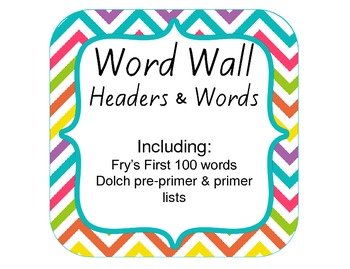 Word Wall Pre-K Kindergarten (Dolch and Fry Lists) Multi B