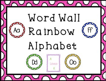 Word Wall Rainbow Alphabet