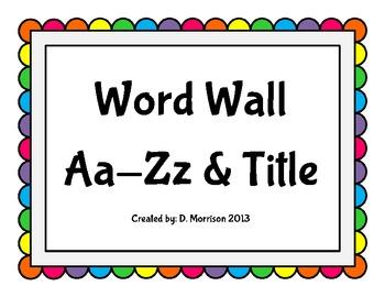 Word Wall: Rainbow Dots