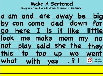 ActivInspire - Word Wall Sentence Maker