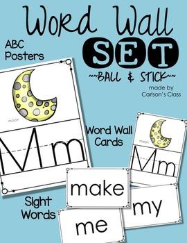 Word Wall Set -- Ball & Stick
