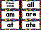 Black Rainbow Dot Word Wall Set:  Pre-primer - 3rd Grade