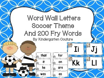 Word Wall Sports (Soccer) Theme and 200 Fry Words