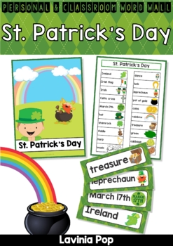 St. Patrick's Day Word Wall Vocabulary