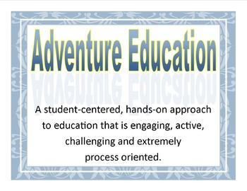 Adventure Education and Character Ed. Word Wall