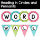 Word Wall Letters and Title in Pink, Turquoise, and Lime Green