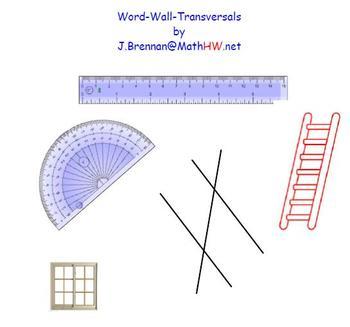 Word Wall - Transversals / Smart Notebook