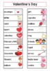 Valentine's Day Word Wall Vocabulary