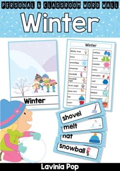 Winter Word Wall Vocabulary