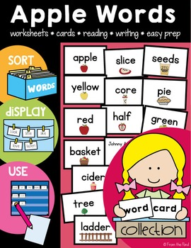 Apple Word Wall Activities